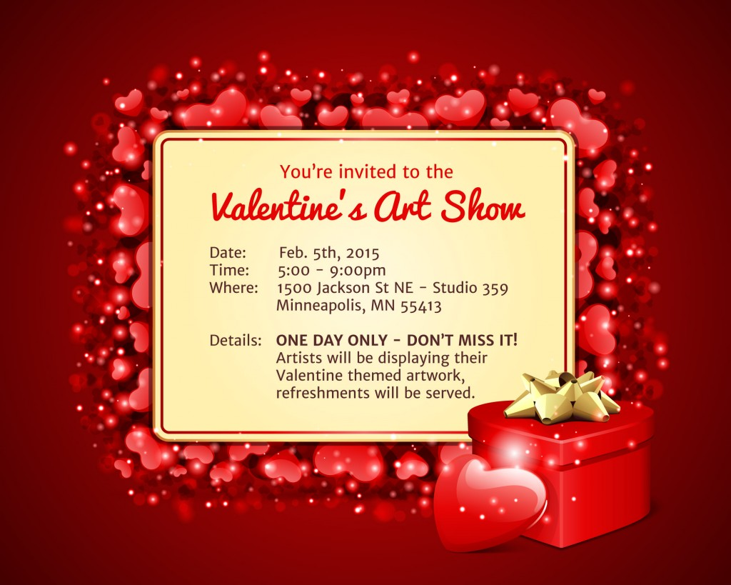 Valentines Art Show 2015 Northrup King Building
